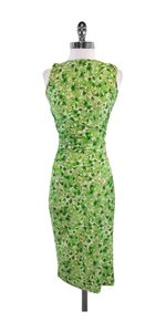 Diane von Furstenberg Green Leaf Print Silk Dress