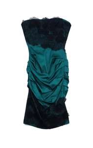 BCBGMAXAZRIA short dress Green & Black Embellished on Tradesy