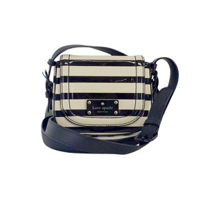 Kate Spade Black & Cream Striped Cross Body Bag