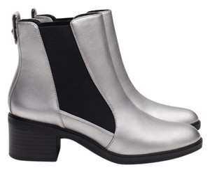 Zara Fall Metallic Boot Silver Boots