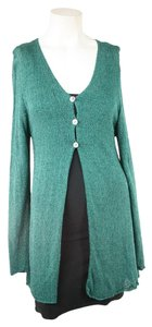 April Cornell Green Coat Sweater