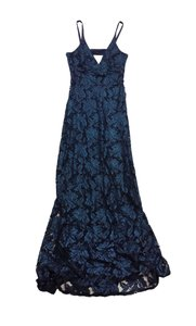 A.B.S. by Allen Schwartz Black & Green Lace Spaghetti Strap Dress