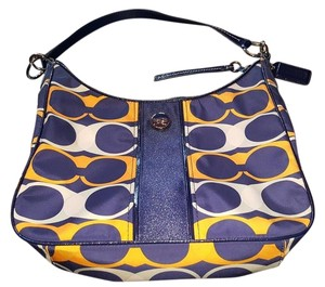 Coach Blue Yellow Shoulder Bag