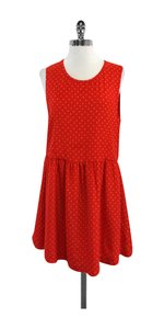 Joie short dress Red & Cream Polka Dot Silk on Tradesy