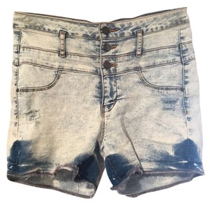 Refuge Jeans Cut Off Shorts Acid wash denim