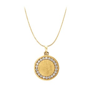 LoveBrightJewelry LoveBrightJewelry,Gold,Circle,Pendant,Necklace,