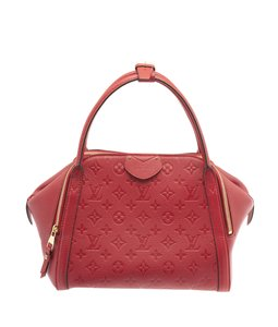 Louis Vuitton Lv Empreinte Tote Three Compartments Satchel in Red