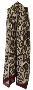 Nordstrom Animal Print Scarf with Solid Border