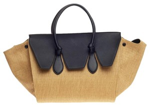 Céline Celine Leather Tote in Black and Brown
