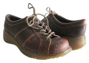 Dr. Martens Leather Comfortable Casual Brown Flats