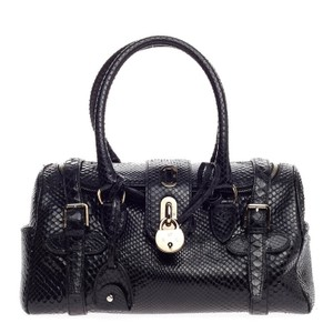 Ralph Lauren Collection Python Satchel in Black