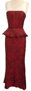 Kay Unger Red Party Wedding Dress