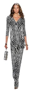 Diane von Furstenberg short dress Black White/Zebra Print Zebra Tunic on Tradesy