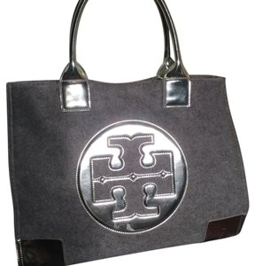 Tory Burch Satchel in Gray & Silver