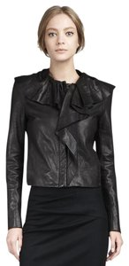Diane von Furstenberg Leather Ruffle Leather Jacket