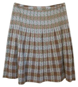 Free People Embroidered Pleated Comfortable Skirt Multi-Color
