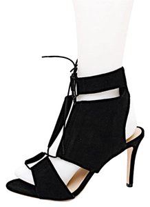 Loeffler Randall Gladiator Suede Lace Up Black Pumps