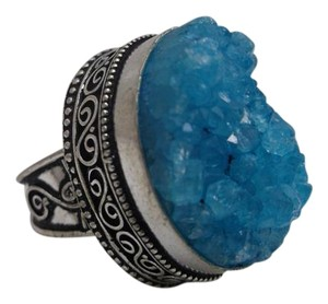 Royalty Geode Ring in 925 Silver w Free Shipping