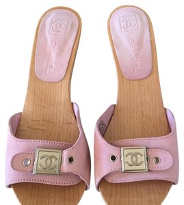 Chanel Light Pink Mules