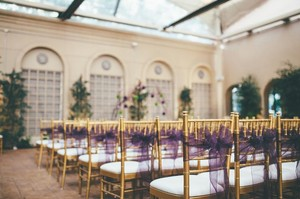 150 Eggplant Purple Organza Chair Sashes