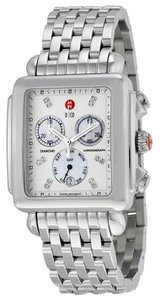 Michele Deco XL Diamond Mother of Pearl Stainless Steel Ladies Watch
