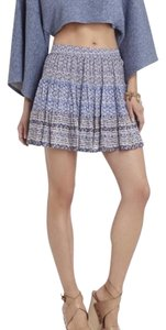 BCBGMAXAZRIA Mini Skirt Cobalt pattern.