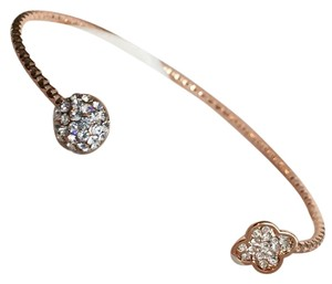 Czech Crystal 14k Rose Gold Bracelet