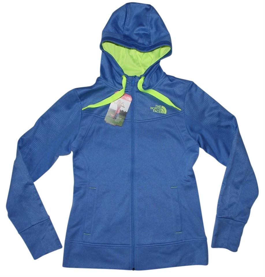 f6f7cb3d4 The North Face Coastline Blue Day Glow Yellow Women's Suprema Full Zip  Stretch Fleece Hoodie Medium Jacket Size 4 (S) 8% off retail