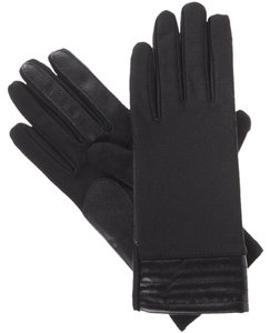 Isotoner Stretch Metallic Hem smarTouch Lined Womens Gloves XL
