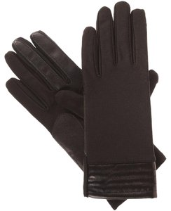 Isotoner Brown Stretch Metallic Hem smarTouch Lined Womens Gloves M L