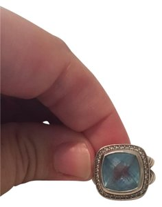 David Yurman David Yurman Albion Blue Topaz and Diamond Ring