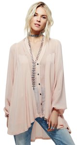 Free People Boho Bohemian Top Peach