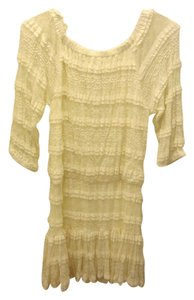 Candie's short dress cream white on Tradesy