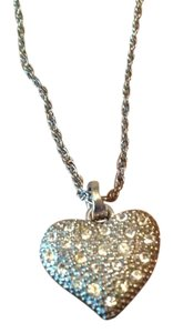 Chico's Chicks puff heart necklace