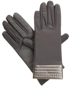 Isotoner Stretch Metallic Hem smarTouch Lined Womens Gloves M L