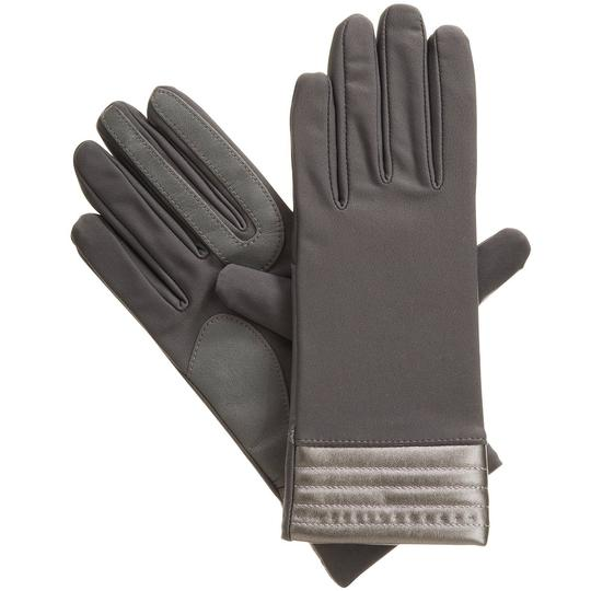 Isotoner Stretch Metallic Hem smarTouch Lined Womens Gloves M L Image 1