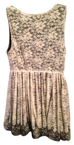 short dress Cream and black on Tradesy