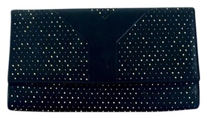 Saint Laurent Ysl Ysl Black and Gold Clutch