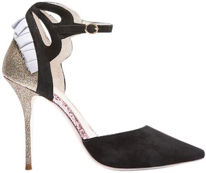 Sophia Webster Glitter Leather Suede Pink Black/Pink/Multi Pumps