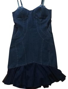 Vera Cristina short dress Dark indigo on Tradesy