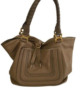 Chloé Tote in Taupe Brown