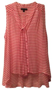 Elizabeth and James Button Down Shirt Red/white
