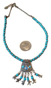 Other Turquoise ;faux necklace, 15 inch with 2 inch extender