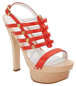 Versace Heels Designer orange Platforms