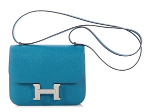 Hermès Blue Hr.k0726.04 Epsom Shoulder Bag