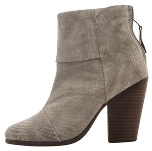 Rag & Bone & Newbury Canvas Grey Boots