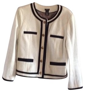 J.Crew White with black accents and brass buttons Blazer