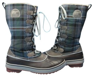 Sorel Navy/Grey plaid Boots