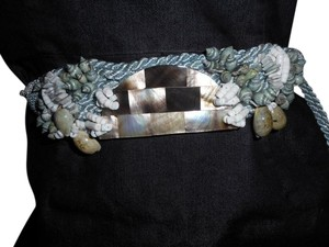 Artistry Shell belt with rope cord tie