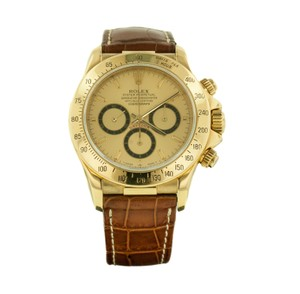 Rolex Rolex Daytona 16518 18KT Gold Leather Chrono Watch